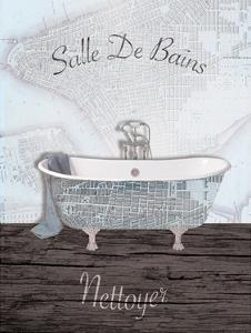Mapped Bath 2 by Victoria Brown