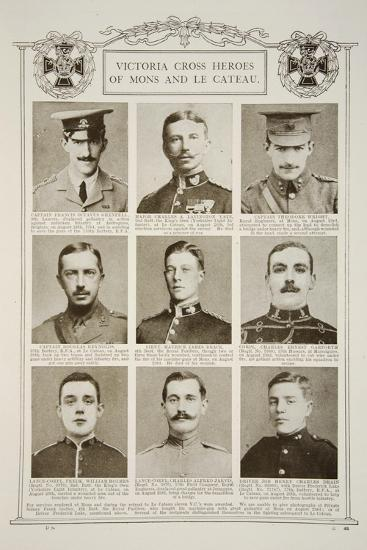 Victoria Cross Heroes of Mons and Le Cateau--Giclee Print