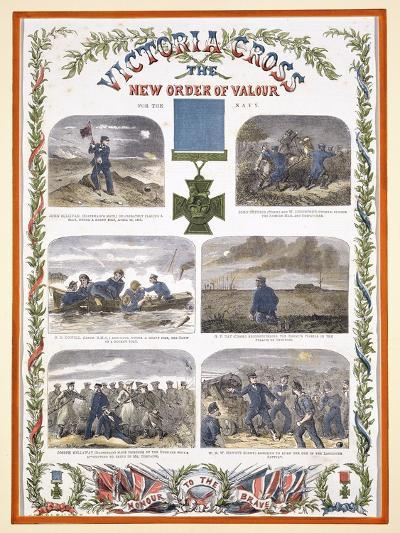 Victoria Cross, the New Order of Valour for the Army, C.1856--Giclee Print