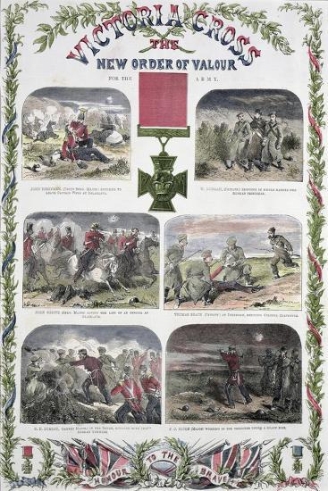 'Victoria Cross, the New Order of Valour for the Army', c1857-Unknown-Giclee Print