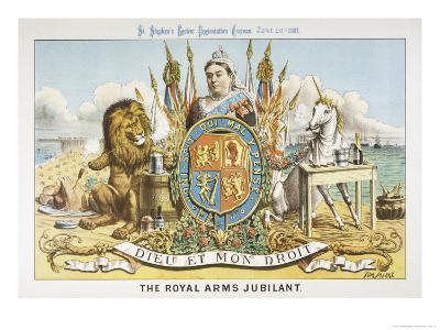 Victoria Depicted with Her Loyal Lion-Tom Merry-Giclee Print