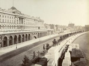 Victoria Embankment, Showing Somerset House, London, 1887