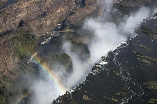 Victoria Falls Aerial View Unesco World Heritage Site Zimbabwe Africa Photographic Print By Ann And Steve Toon Art Com