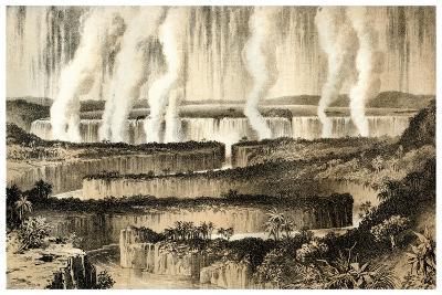 Victoria Falls of the Zambesi, 1883--Giclee Print