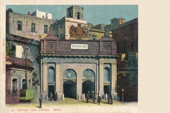 'Victoria Gate, Valletta - Malta', c1900-Unknown-Giclee Print