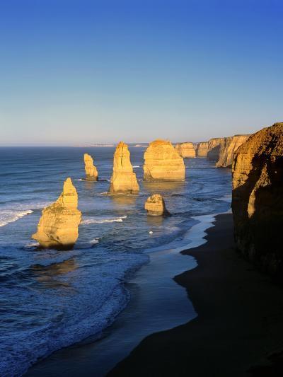 Victoria, Great Ocean Road, Sunrise on the Twelve Apostles-Marcel Malherbe-Photographic Print