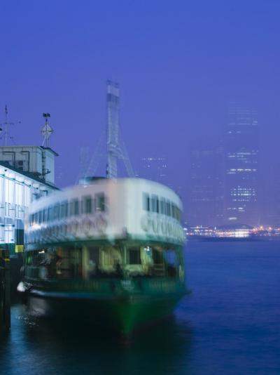 Victoria Harbour, Star Ferry Terminal, Kowloon, Hong Kong, China-Walter Bibikow-Photographic Print