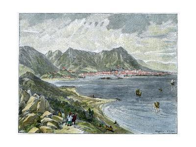 Victoria, Hong Kong, from the Chinese Mainland, C1890--Giclee Print