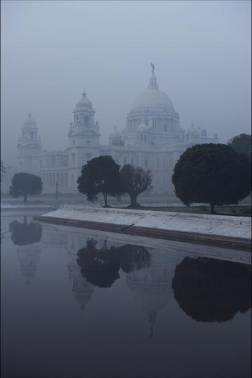 Victoria Memorial Is Enveloped in Ground Fog On a Cold Winter Morning in Calcutt-Steve Raymer-Photographic Print