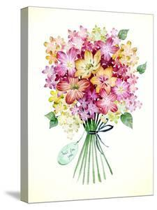Bouquet Yellow Pink Tag by Victoria Nelson