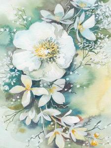 Floral Watercolor Blossom by Victoria Nelson