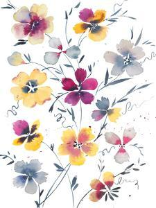 Pansies Watercolor Floral by Victoria Nelson