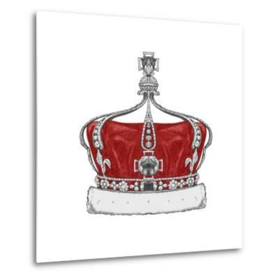 Original Drawing of Crown. Isolated on White Background