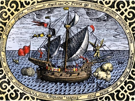 Victoria, One of Magellan's Fleet Which Circumnavigated the Earth, c.1519-1520--Giclee Print
