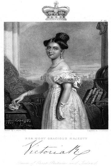 Victoria, Queen of Great Britain and Ireland, C1838-J Cochran-Giclee Print