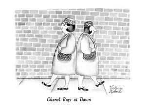 Chanel Bags at Dawn - New Yorker Cartoon by Victoria Roberts