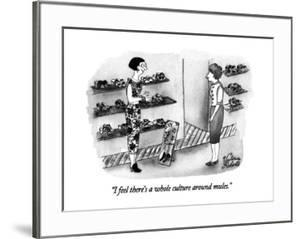 """""""I feel there's a whole culture around mules."""" - New Yorker Cartoon by Victoria Roberts"""