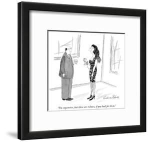 """""""I'm expensive, but there are rebates, if you look for them."""" - New Yorker Cartoon by Victoria Roberts"""