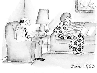 """I'm selling you on eBay."" - New Yorker Cartoon"