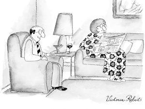 """I'm selling you on eBay."" - New Yorker Cartoon by Victoria Roberts"