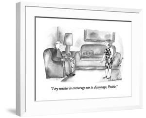 """""""I try neither to encourage nor to discourage, Pookie."""" - New Yorker Cartoon by Victoria Roberts"""
