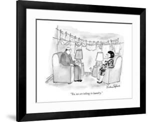"""""""Yes, we are taking in laundry."""" - New Yorker Cartoon by Victoria Roberts"""
