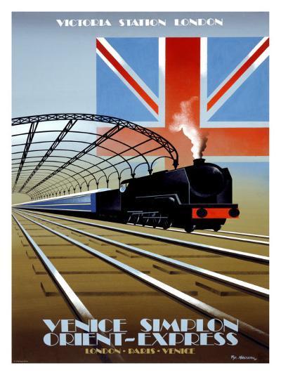 Victoria Station, London, Orient Express-Pierre Fix-Masseau-Giclee Print