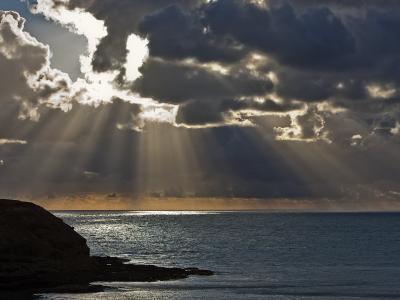 Victoria, Sun's Rays and Clouds across the Sea at Phillip Island, Australia-Nigel Pavitt-Photographic Print