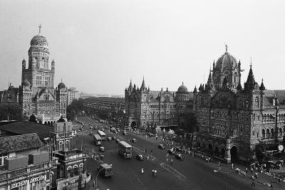 Victoria Terminus and Bmc Buildings, Mumbai, Maharashtra, India, 1982--Photographic Print