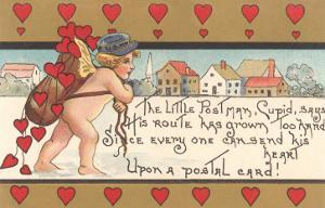 Victorian Cupid Delivering Mail