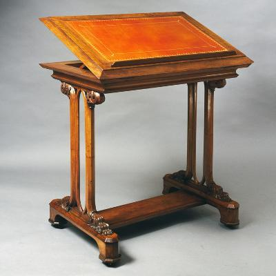 Victorian Indian Walnut Reading Desk, Ca 1880, United Kingdom, English Culture, 19th Century--Giclee Print