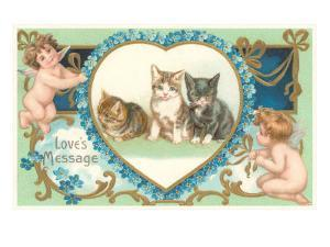 Victorian Kittens and Cupids, Love's Message