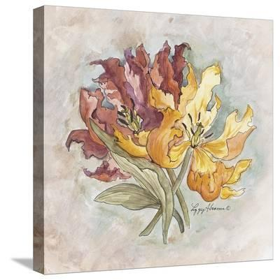 Victorian Panel-Lilies-Peggy Abrams-Stretched Canvas Print