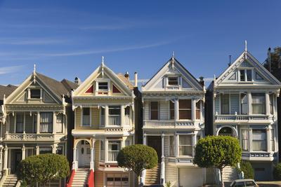 Victorian Style Homes Near Alamo Square; San Francisco California United States of America-Design Pics Inc-Photographic Print