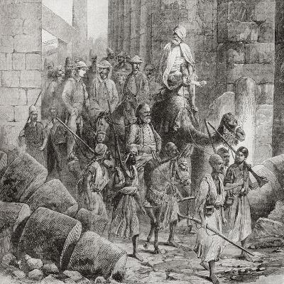 Victorian Tourists at the Hall of Columns or Hypostyle Hall--Giclee Print
