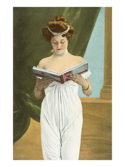 Victorian Woman Reading--Art Print