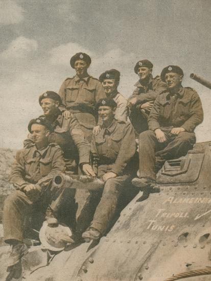 'Victors of the Mareth Line', 1943-Unknown-Photographic Print