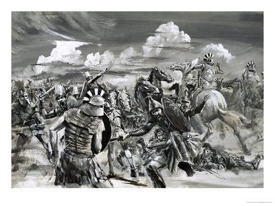 Victory at Gaugamela For Alexander the Great-Graham Coton-Giclee Print