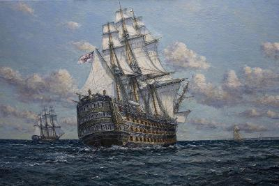 'Victory' Flagship of Vice Admiral Lord Nelson, 2010-John Sutton-Giclee Print