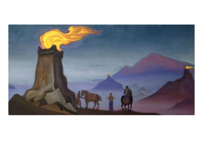 Victory Flames, 1940-Nikolai Konstantinovich Rerikh-Giclee Print