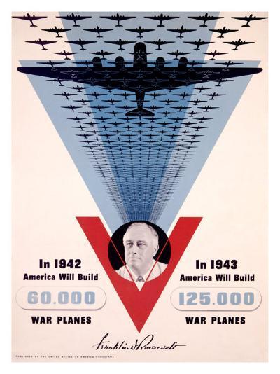 Victory, Franklin D. Roosevelt-Jean Carlu-Giclee Print