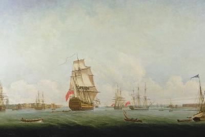 Victory Leaving Portsmouth-Captain William Elliott-Giclee Print