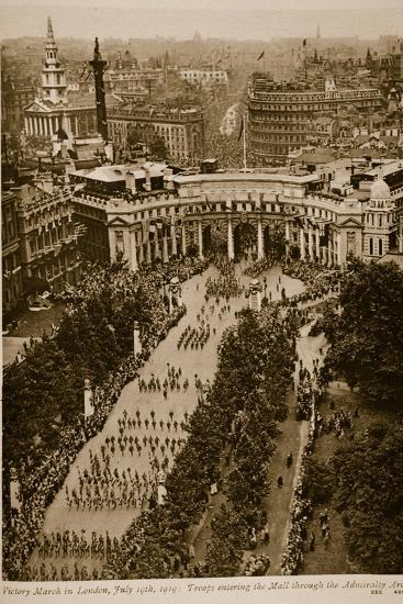 Victory March in London, July 19Th, 1919--Photographic Print