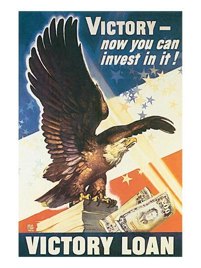 Victory - Now You Can Invest In It! 1945-Dean Cornwell-Art Print