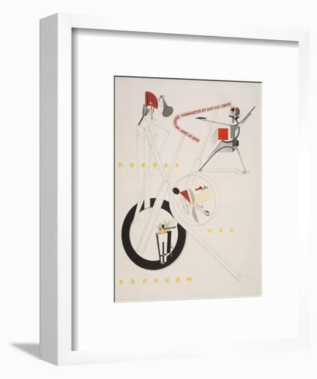 Victory Over the Sun, 1. Part of the Show Machinery-El Lissitzky-Framed Giclee Print
