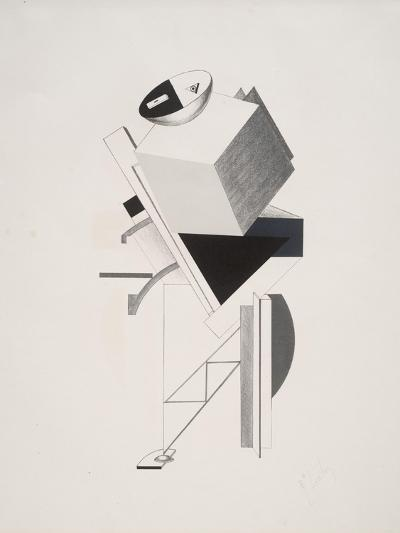 Victory Over the Sun, 3. Sentry-El Lissitzky-Giclee Print