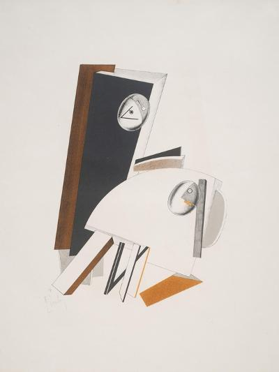 Victory Over the Sun, 4. Anxious People-El Lissitzky-Giclee Print