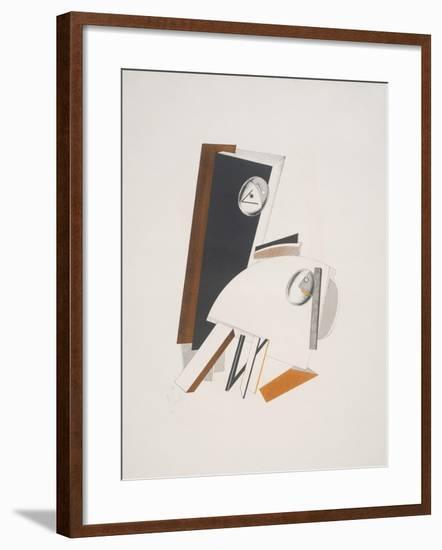 Victory Over the Sun, 4. Anxious People-El Lissitzky-Framed Giclee Print