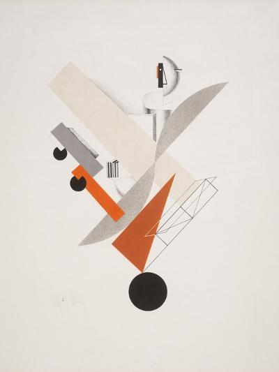 Victory Over the Sun, 5. Globetrotter (in Time)-El Lissitzky-Giclee Print