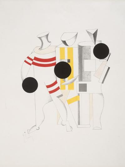 Victory Over the Sun, 6. Sportsmen-El Lissitzky-Giclee Print